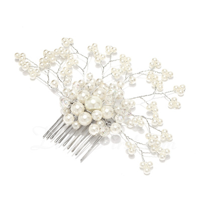 Glamourous Alloy/Pearl Combs & Barrettes (042026847)
