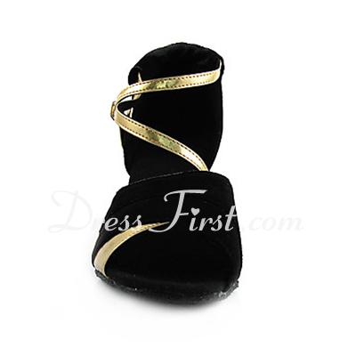 Kadın Topuk Sandalet Latin Ile Ayakkabı Askısı Dans Ayakkabıları (053013442)