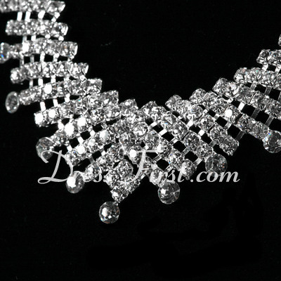 Shining Alloy With Crystal Ladies' Jewelry Sets (011027186)