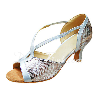 Women's Leatherette Heels Sandals Latin Dance Shoes (053013344)