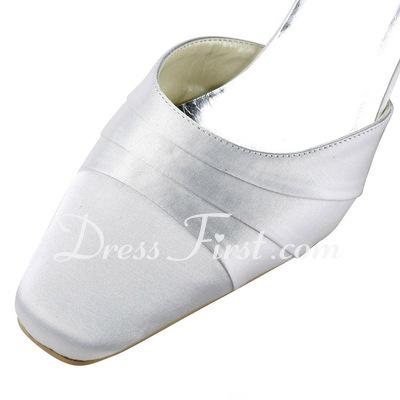 Kadın Satin Kalın Topuk Pompalar (047011843)