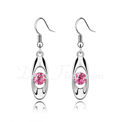 Nice Alloy With Crystal Women's Earrings (011037109)