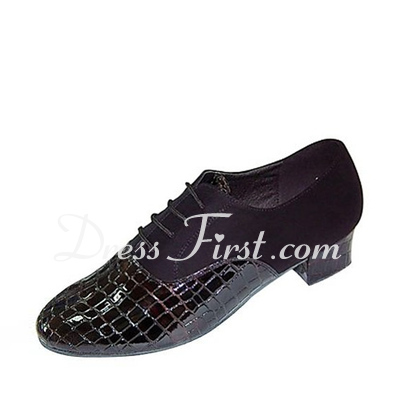 Men's Leatherette Heels Flats Latin Ballroom Dance Shoes (053018538)