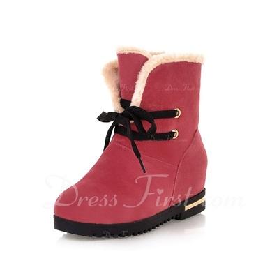 Bez Düz Topuk Daireler Takozlar Kar Boots ayakkabı (088057380)