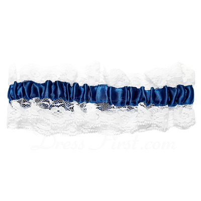 Eternity Satin Lace Wedding Garters (104019509)