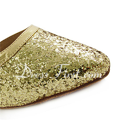 Women's Leatherette Sparkling Glitter Heels Pumps Modern Wedding Dance Shoes (053013530)