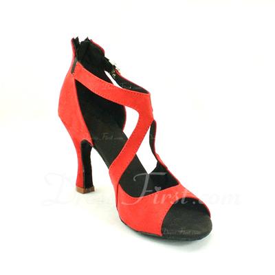 Kadın Topuk Sandalet Latin Ile Toka Dans Ayakkabıları (053057156)