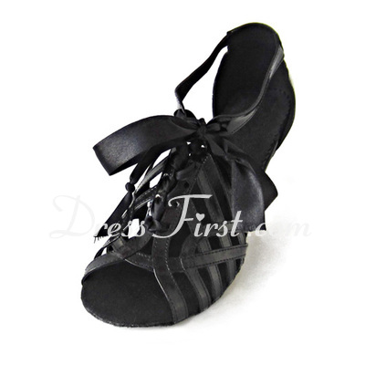 Women's Leatherette Heels Sandals Latin Ballroom Dance Shoes (053020127)