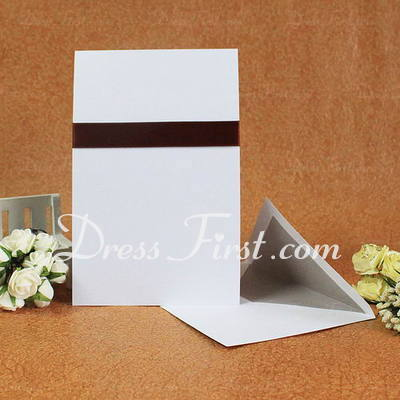 Classic Style Flat Card Invitation Cards With Bows/Ribbons (Set of 50) (114030717)