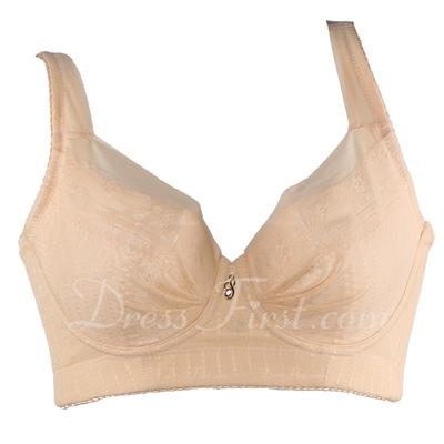 Elegant Chinlon Feminine Plus Size Bra (041054405)