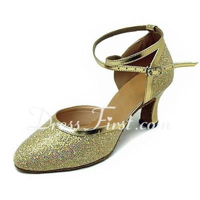 Women's Leatherette Sparkling Glitter Heels Pumps Modern Ballroom Dance Shoes (053013450)