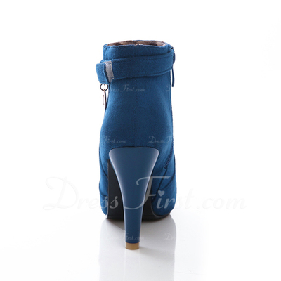 Suede Stiletto Heel Ankle Boots shoes (088054715)