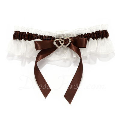 Marvelous Satin With Rhinestone Wedding Garters (104019491)