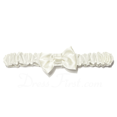 Chic Satin With Bowknot Wedding Garters (104024492)