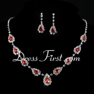 Beautiful Alloy/Crystal Ladies' Jewelry Sets (011027195)
