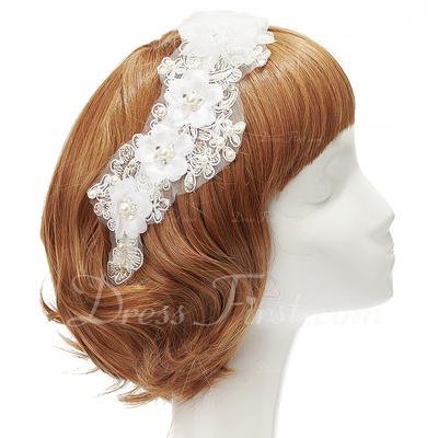 Lovely Pearl Chiffon Headbands (042028745)