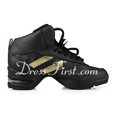 Women's Real Leather Sneakers Practice Dance Shoes (053013221)