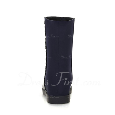 Suni deri Alçak Topuk Ayak bileği Boots ayakkabı (088056317)