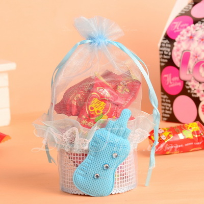 Elegant Basket Favor Bags With Ribbons/Laces (Set of 12) (050054617)