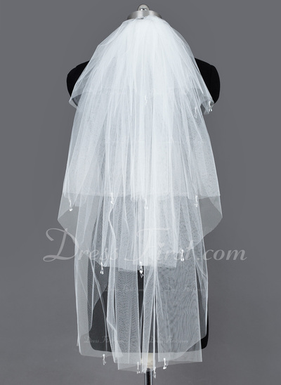 Four-tier Fingertip Bridal Veils With Cut Edge (006034182)