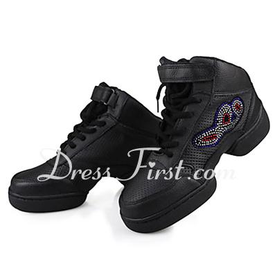Kadın Gerçek Deri Daireler Spor Ayakkabılar Pratik Dans Ayakkabıları (053013142)