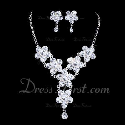 Shining Alloy/Rhinestones Women's Jewelry Sets (011028404)