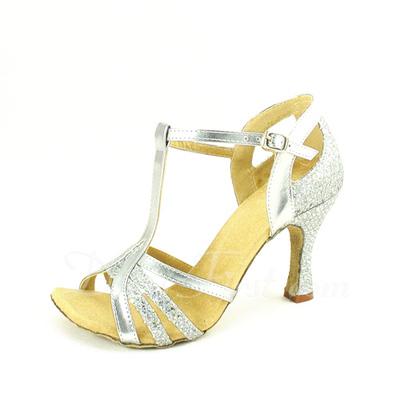 Kadın Suni deri Topuk Sandalet Latin Ile T-Askı Dans Ayakkabıları (053057176)