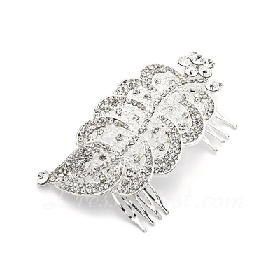 Alloy With Rhinestones Wedding Hair comb (042016812)