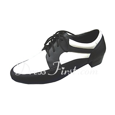 Men's Real Leather Heels Latin Ballroom Practice Character Shoes Dance Shoes (053013194)