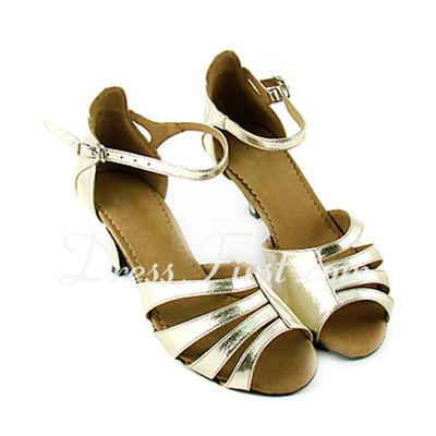 Women's Leatherette Heels Sandals Latin Dance Shoes (053013590)