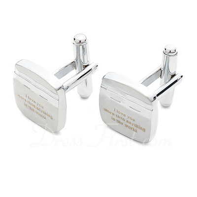 Personalized Stainless Steel Cufflinks (Set of 2) (118033683)
