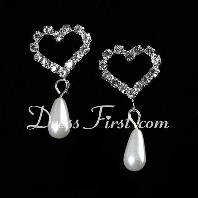 Sweet Heart Alloy/Pearl With Crystal Ladies' Jewelry Sets (011027188)