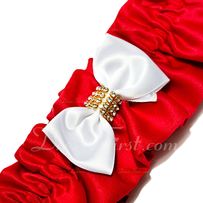 Chinese Style Satin With Rhinestone Wedding Garters (104019208)