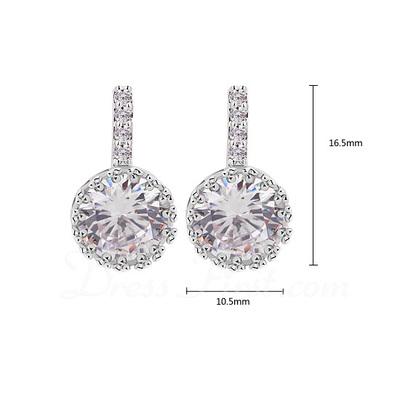 Gorgeous Zircon/Platinum Plated Ladies' Earrings (011057235)