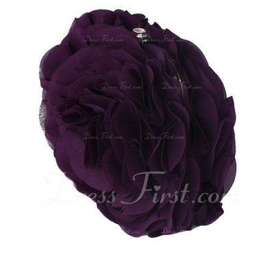 Gorgeous Chiffon With Flower/Ruffles Clutches (012010430)