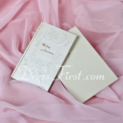 Floral Style Tri-Fold Invitation Cards (Set of 50) (114033295)