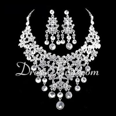 Elegant Alloy/Rhinestones Ladies' Jewelry Sets (011026993)