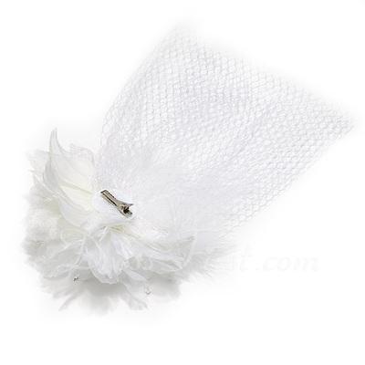 Gorgeous Feather/Satin/Tulle Fascinators (042026776)