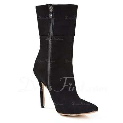 Suede Stiletto Heel Ankle Boots shoes (088055810)