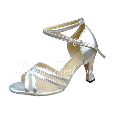 Women's Patent Leather Heels Sandals Latin With Ankle Strap Dance Shoes (053013010)