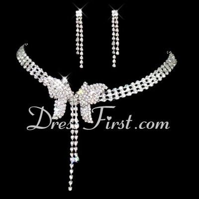 Elegant Alloy With Rhinestone Ladies' Jewelry Sets (011026989)