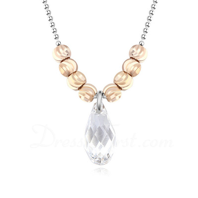 Classic Alloy/Platinum Plated With Crystal Ladies' Necklaces (011054898)