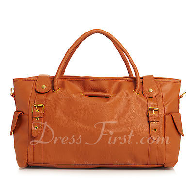 Fashional PU With Metal Fashion Handbags (012031384)