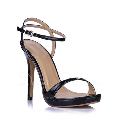 Women's Leatherette Stiletto Heel Sandals Slingbacks shoes (087015262)