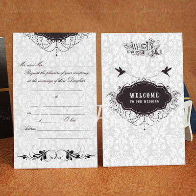 Classic Style Wrap & Pocket Invitation Cards (Set of 50) (114030707)