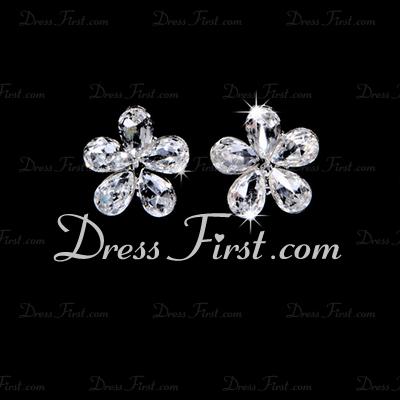 Flower Shaped Alloy/Rhinestones Women's Jewelry Sets (011028345)