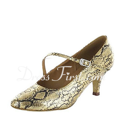 Women's Leatherette Heels Pumps Modern Ballroom Dance Shoes (053018605)