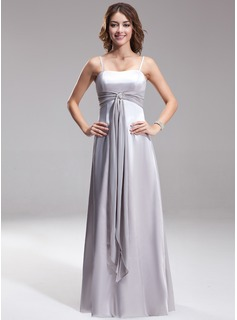 A-Line/Princess Sweetheart Floor-Length Charmeuse Bridesmaid Dress With Sash