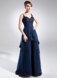 Çan/Prenses Kalp Kesimli Kısa Kuyruk Tulle Gelin Annesi Elbisesi Ile Lace