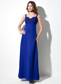 Empire Sweetheart Floor-Length Chiffon Bridesmaid Dress With Lace Beading